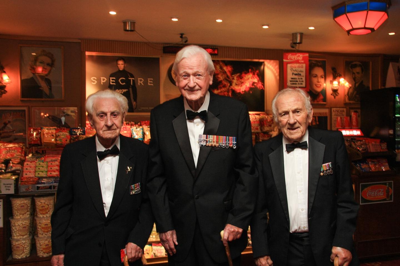 Flying Officer Ken Wilkinson, Wing Commander Tom Neil and Squadron Leader Tony Pickering