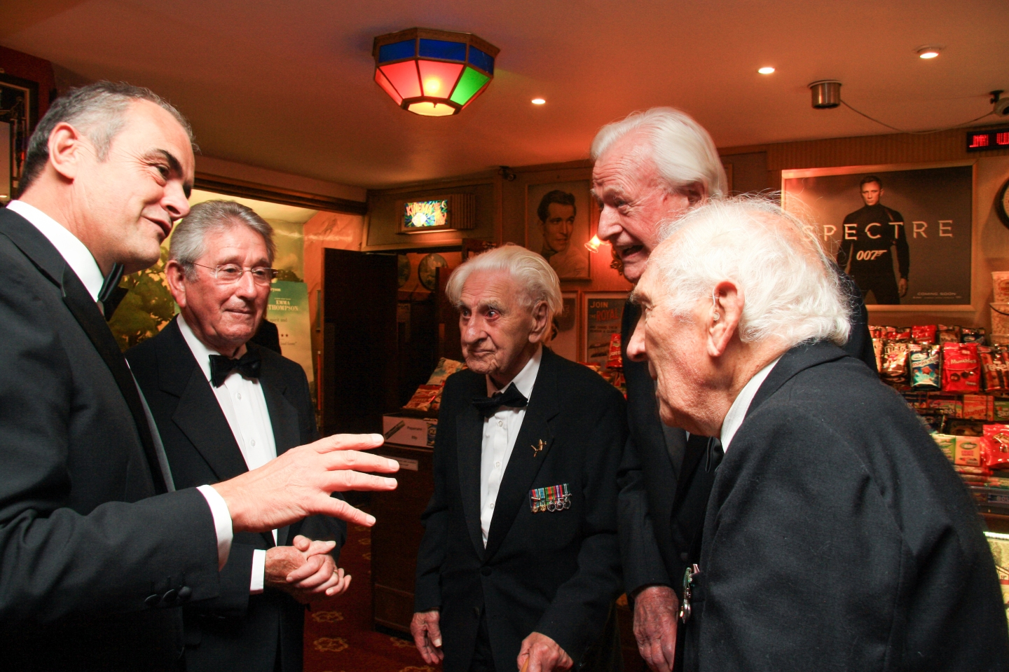 Melvyn Prior chats to Ken Wilkinson, Tom Neil and Tony Pickering