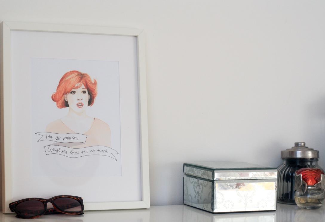 Molly Ringwald - Oh my Gosh Cindy print